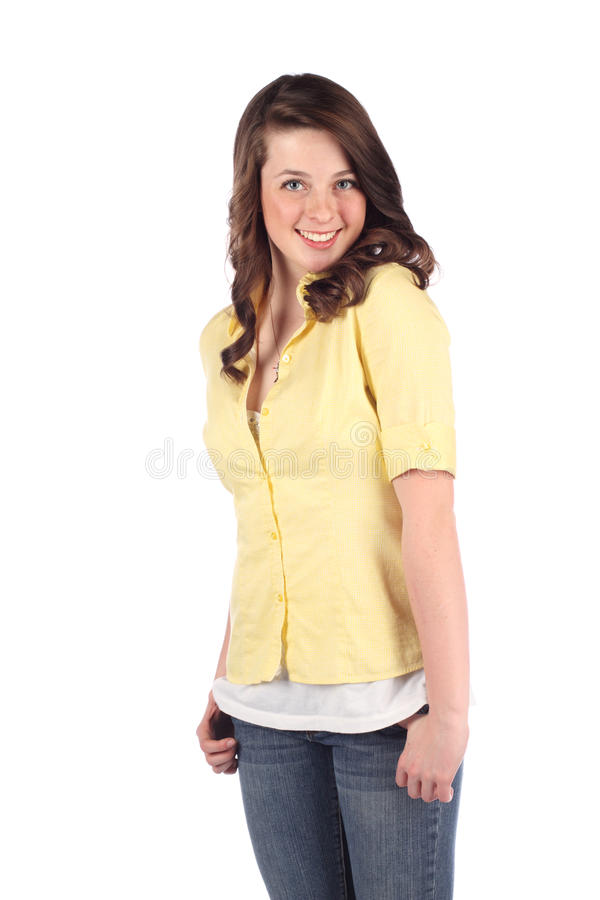 женщина довольно предназначенная для подростков стоковая фотография rf