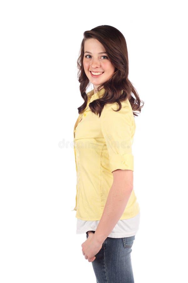 женщина довольно предназначенная для подростков стоковое изображение