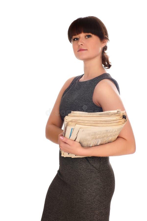 женщина документов дела стоковые изображения
