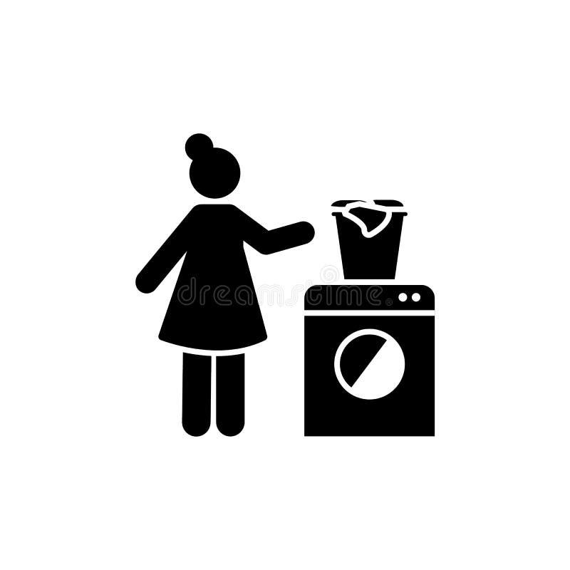 Женщина, домоустройство, значок чистки Элемент ежедневного по заведенному порядку значка бесплатная иллюстрация