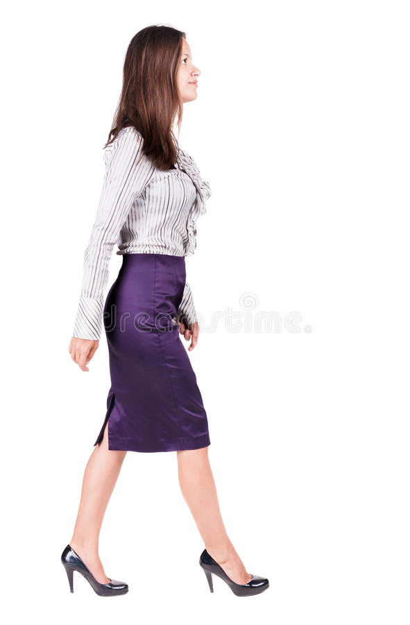 женщина дела гуляя стоковое изображение