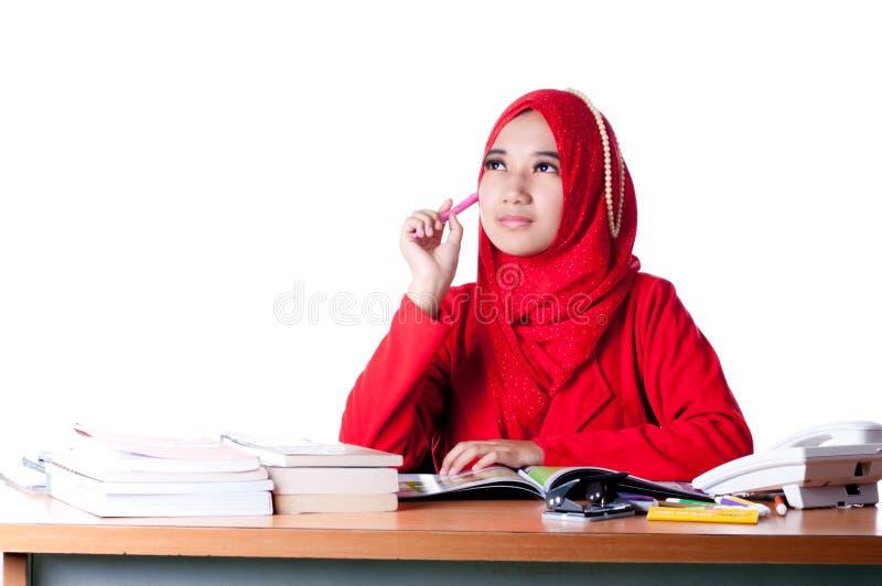 Женщина дела на работе стоковое изображение rf