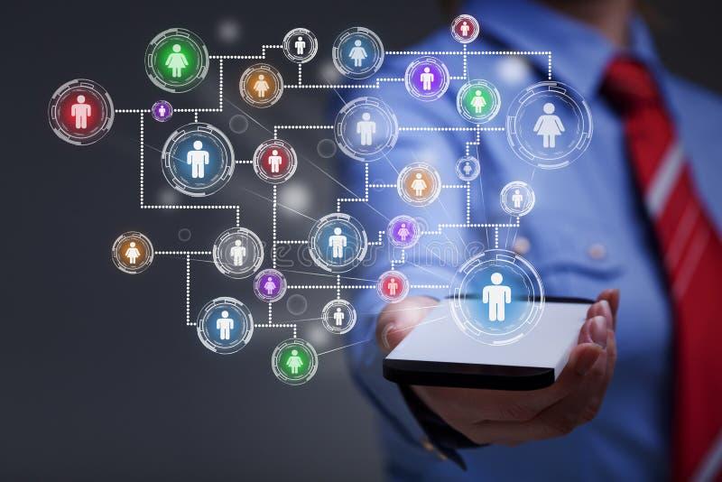 Социальная принципиальная схема средств стоковые изображения
