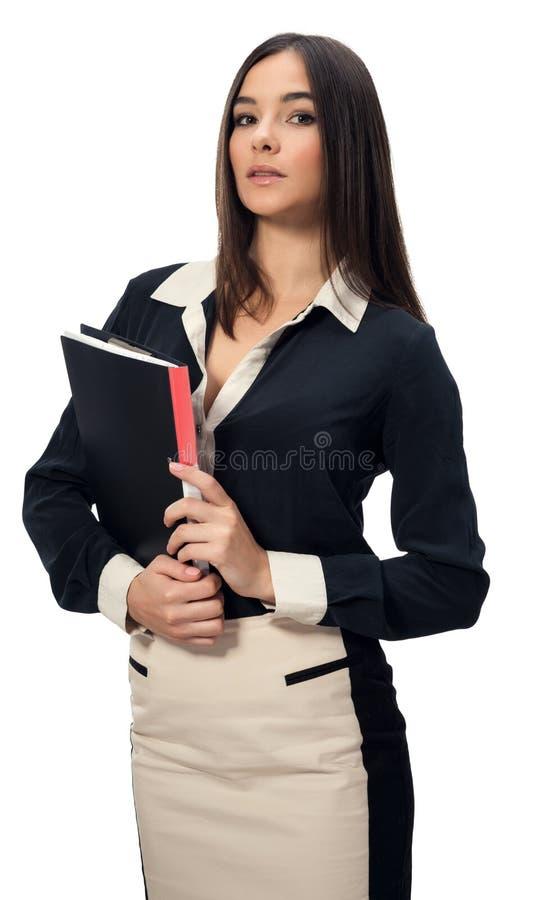Женщина дела с документами стоковые фотографии rf