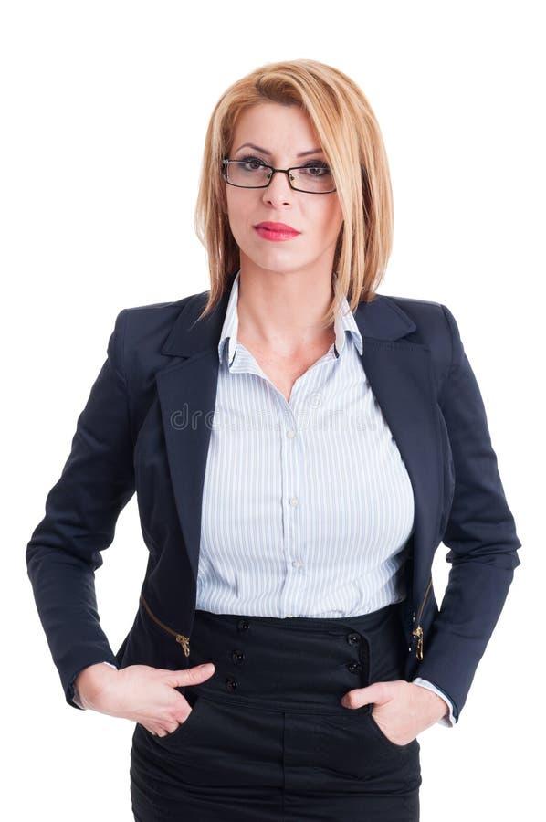 женщина дела уверенно стоковое фото rf