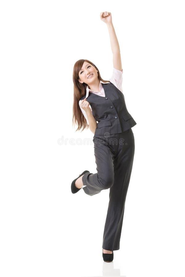 женщина дела exciting стоковые фотографии rf