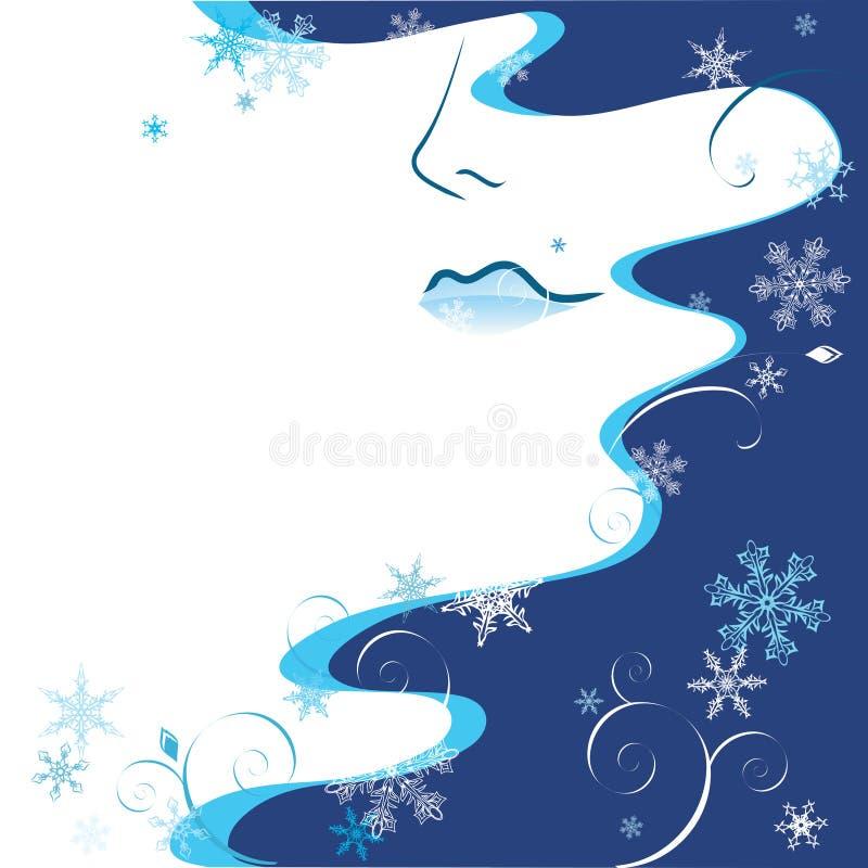 женщина зимы иллюстрация вектора