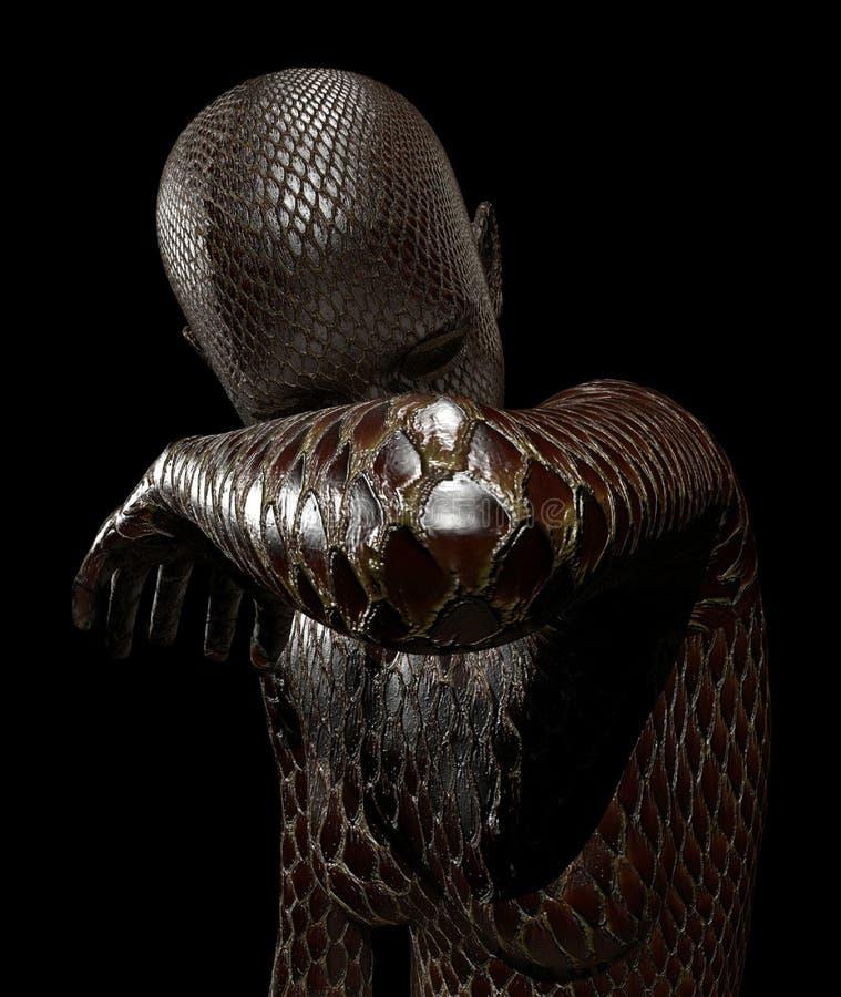 женщина змейки стоковое фото