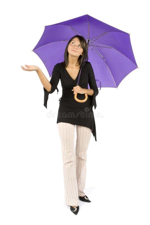 женщина зонтика стоковые фото