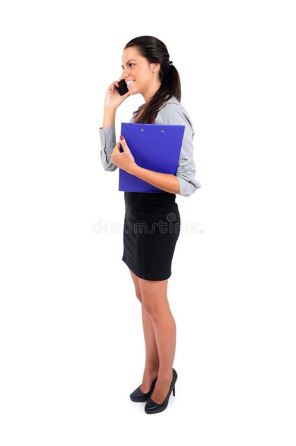 женщина изолированная делом стоковое изображение