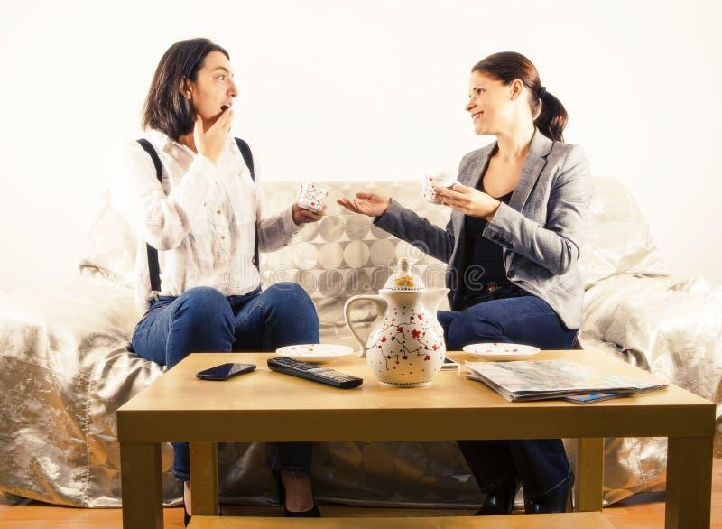 Женщина имея оживленную беседу стоковые изображения