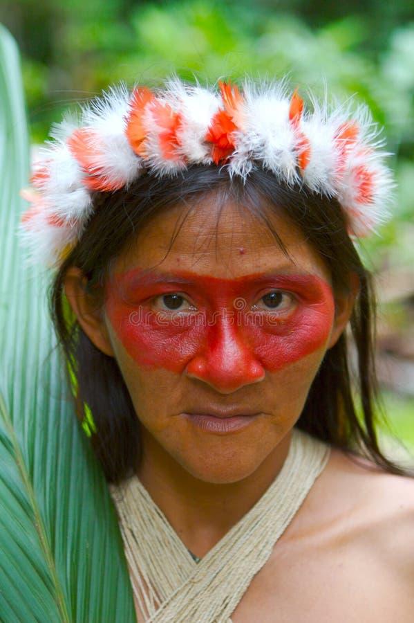 женщина индейца Амазонкы стоковая фотография rf