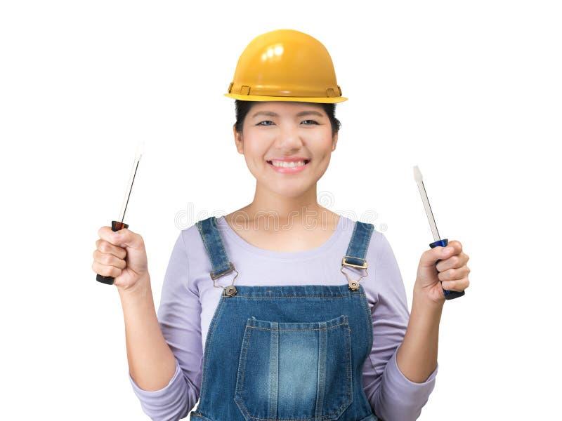 Женщина инженерства стоковая фотография rf