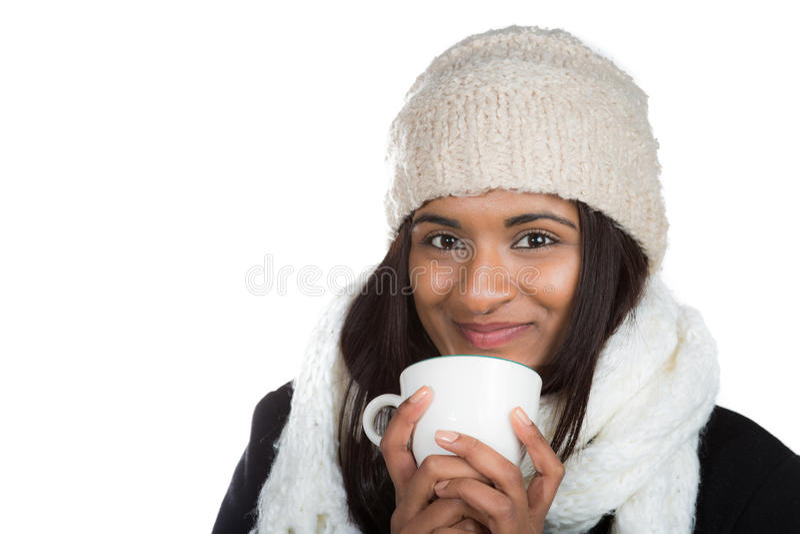 Женщина индейца питья стоковая фотография rf