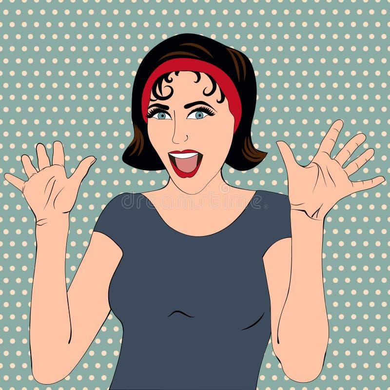 Женщина искусства шипучки иллюстрация штока