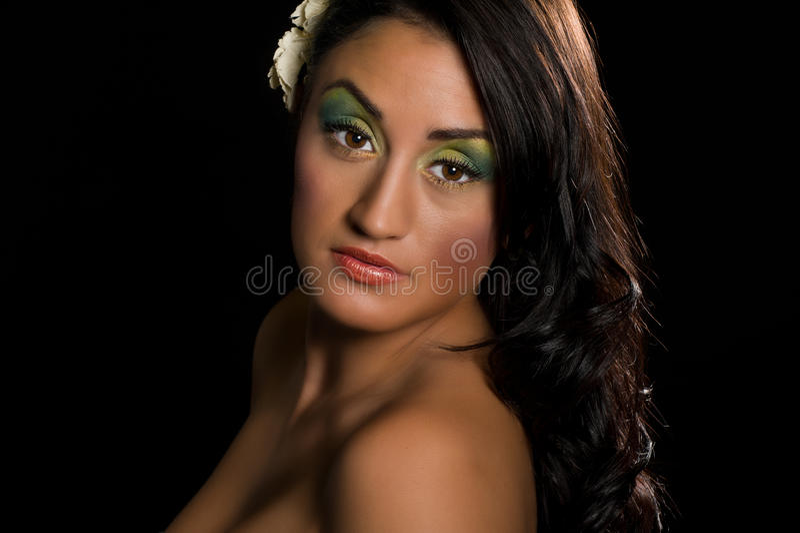 женщина испанского портрета чувственная стоковое изображение rf
