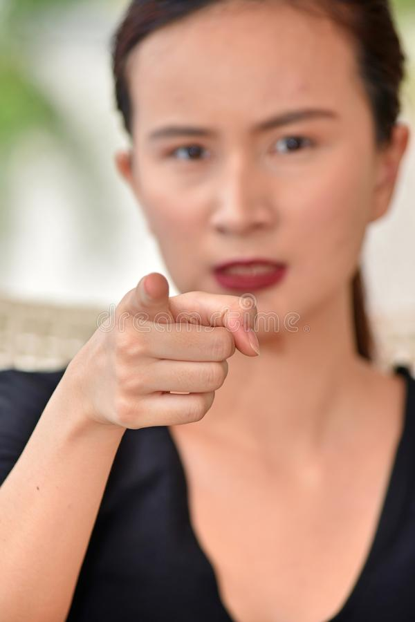 Женщина и гнев стоковая фотография rf