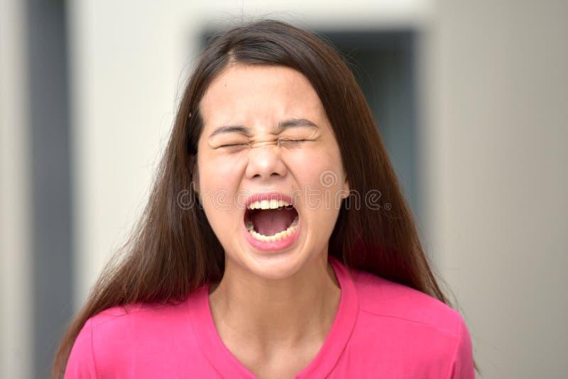 Женщина и гнев стоковая фотография