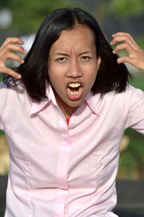 Женщина и гнев стоковые фотографии rf