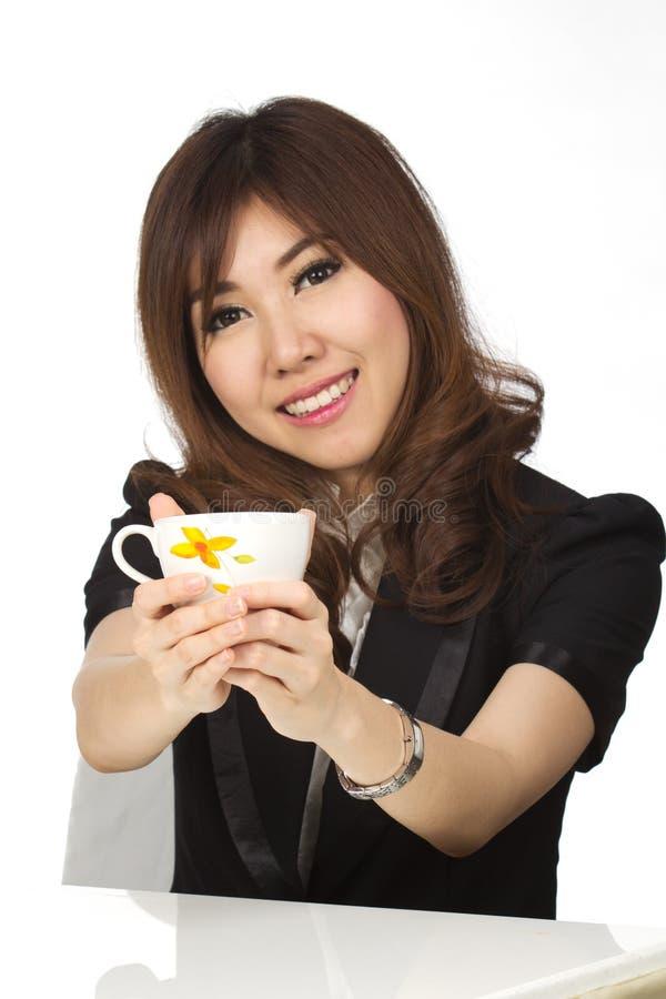 Женщина и кофе стоковое фото rf