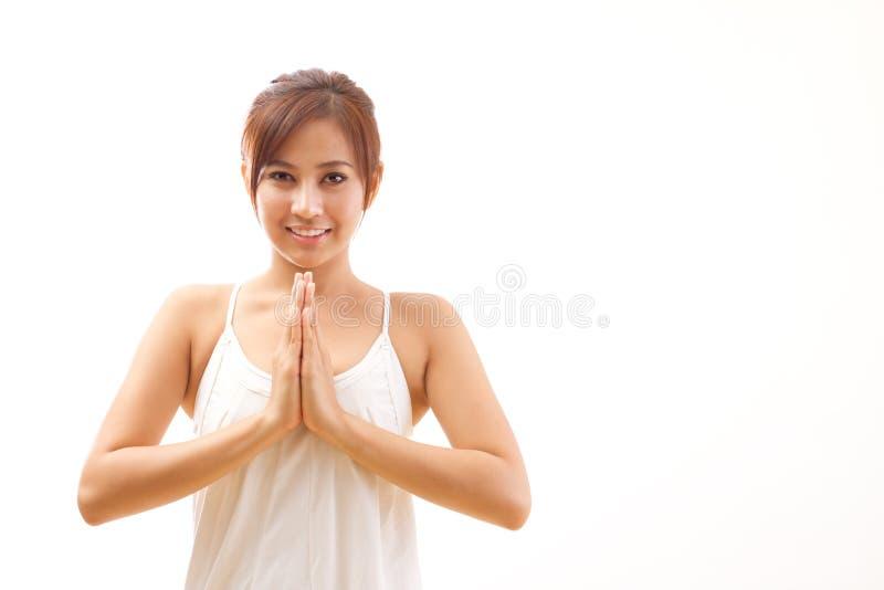 Женщина йоги стоковое фото