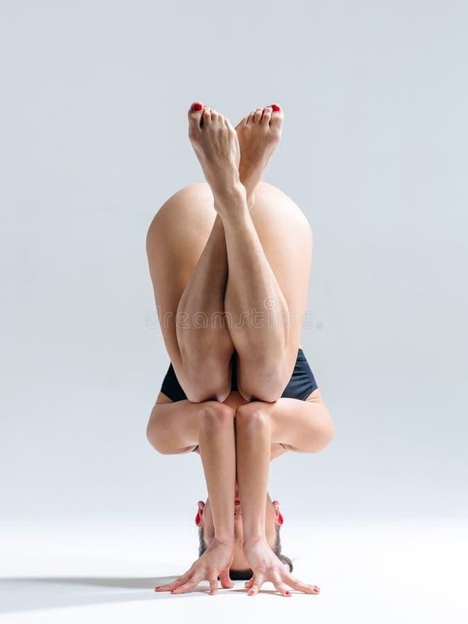 Женщина йоги стоковое фото rf