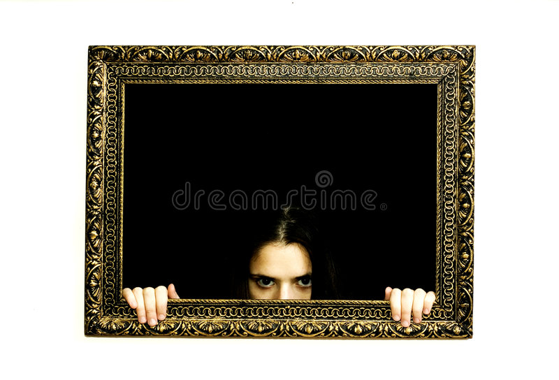 женщина картины рамки стоковое изображение