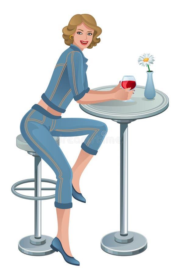 женщина кафа иллюстрация вектора
