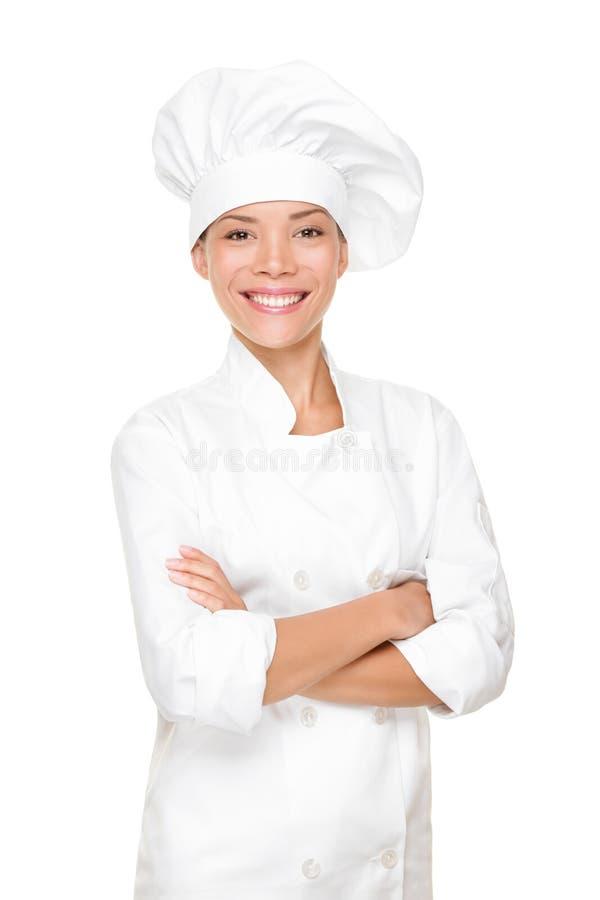женщина кашевара шеф-повара хлебопека стоковая фотография rf