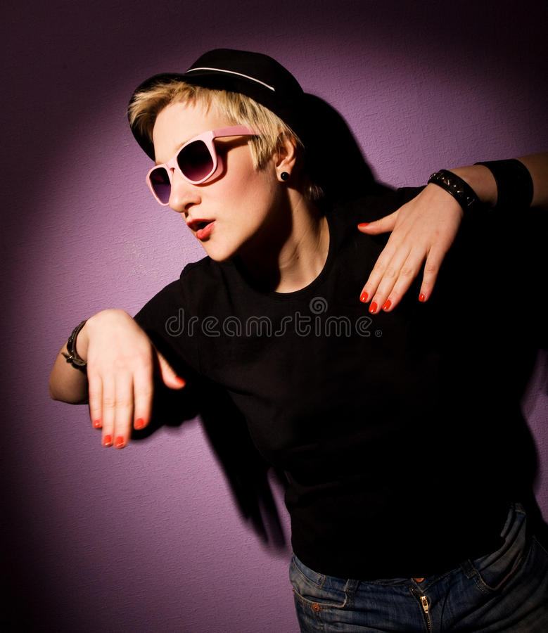 женщина клуба красотки стоковая фотография