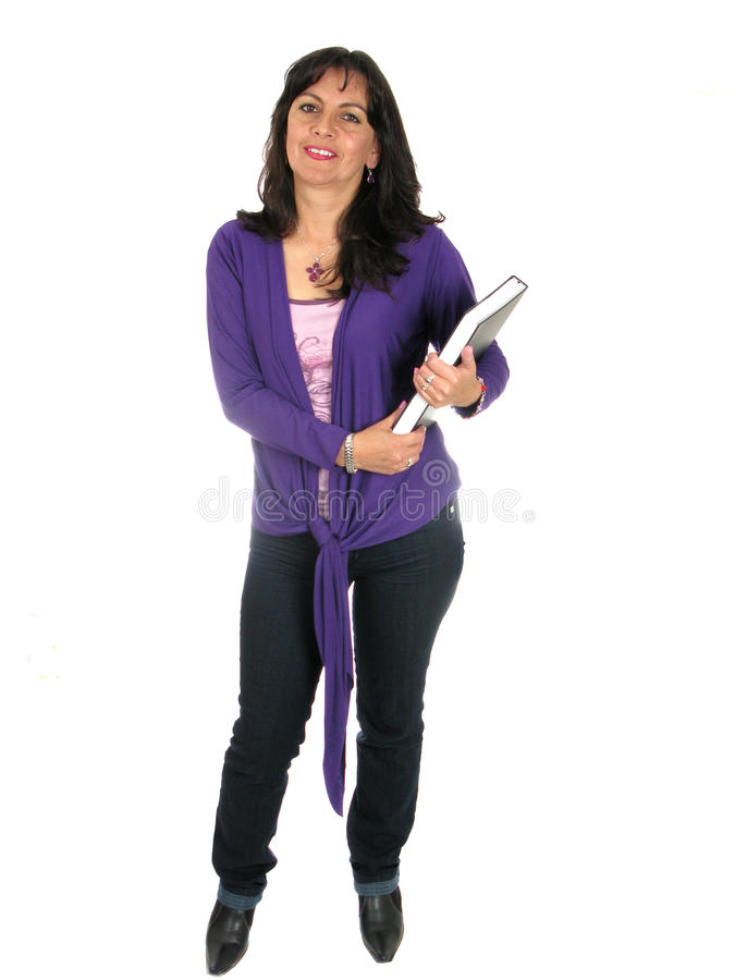 женщина книги счастливая стоковое фото
