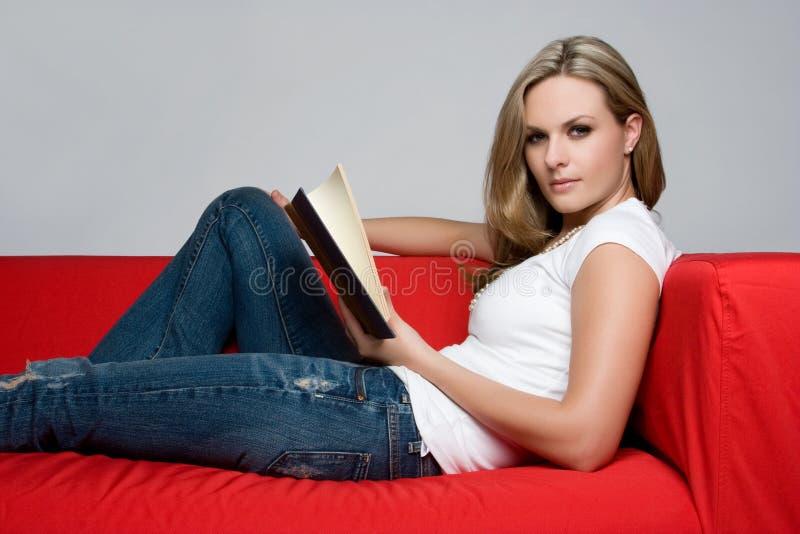 женщина книги стоковое фото rf