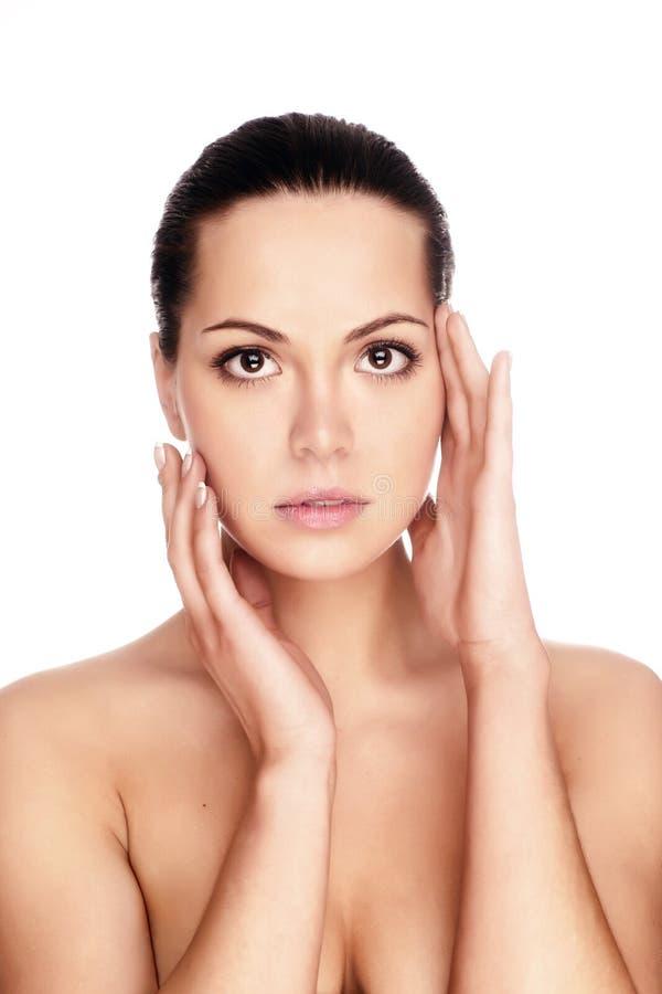женщина кожи здоровья стороны стоковое фото rf