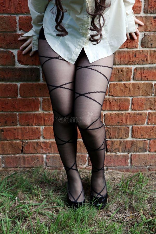 женщина колготки нося стоковое фото rf
