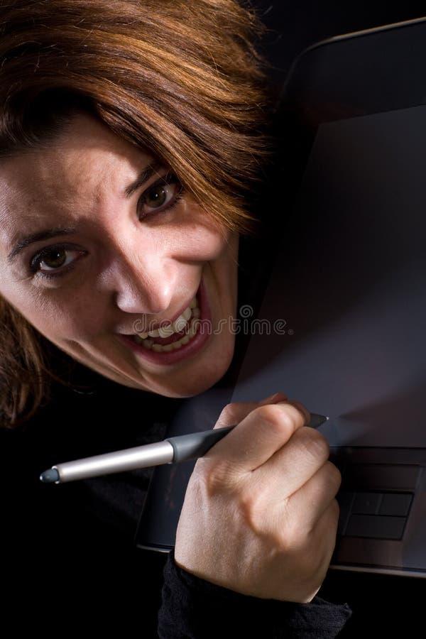 женщина конструктора маньяк стоковые изображения rf