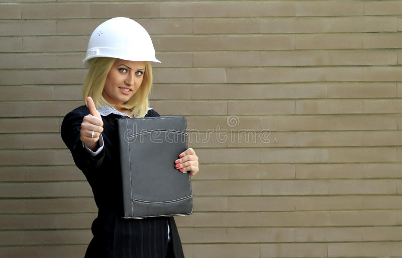 Женщина контрактора стоковая фотография rf