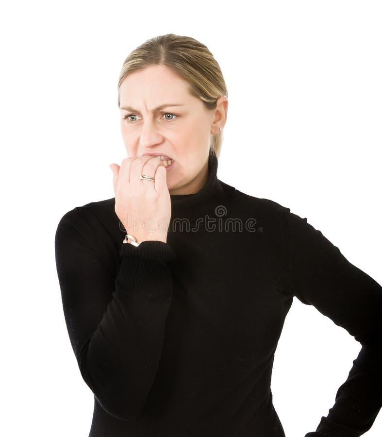 Женщина конфузит стоковые фотографии rf