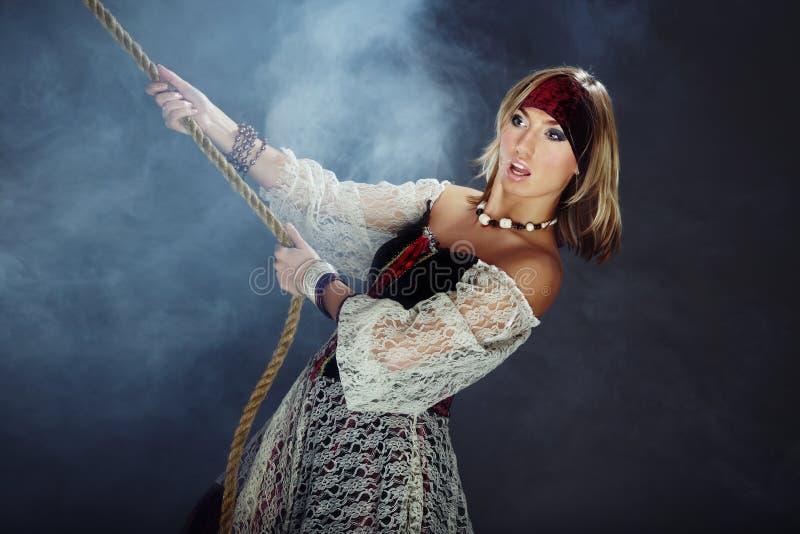женщина корсара стоковое изображение rf