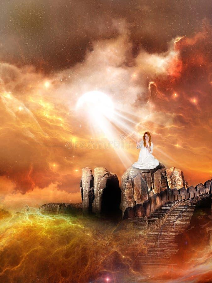 Женщина космоса фантазии научной фантастики стоковое изображение rf