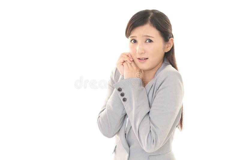 Женщина которое confused стоковая фотография rf