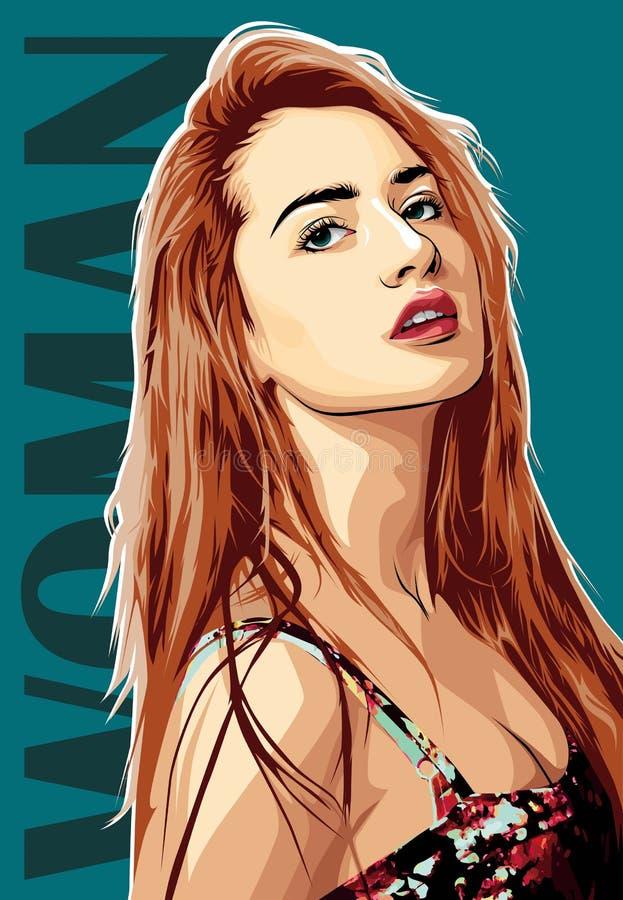 Женщина красивая иллюстрация штока
