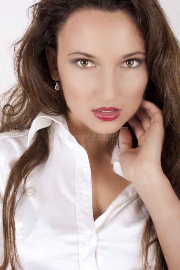 женщина красивейшего портрета состава профессиональная стоковая фотография rf