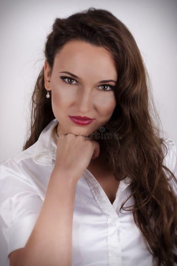 женщина красивейшего портрета состава профессиональная стоковое изображение rf
