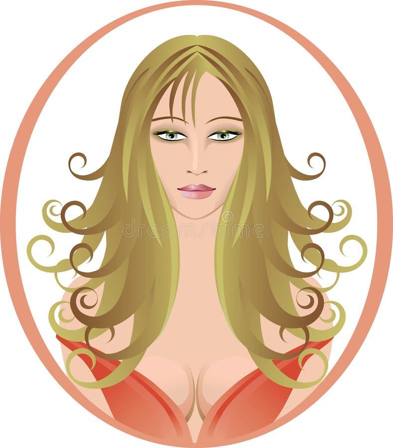 женщина красивейших волос длинняя стилизованная стоковая фотография rf