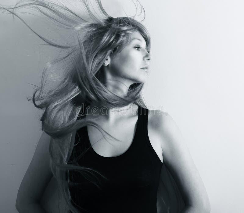 женщина красивейших волос здоровая длинняя стоковая фотография
