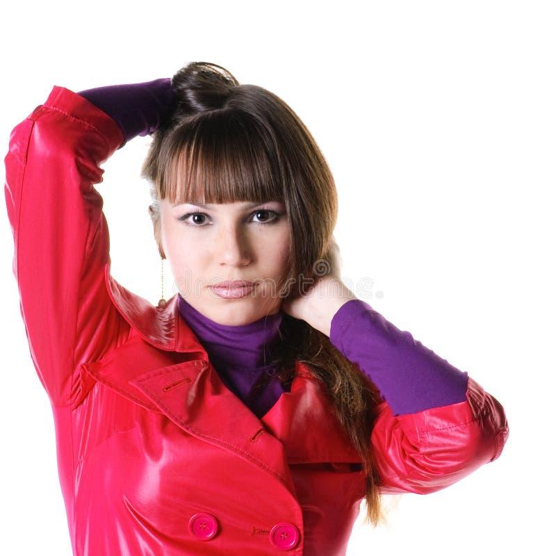 женщина красивейших кожаных кальсон сь стоковые изображения