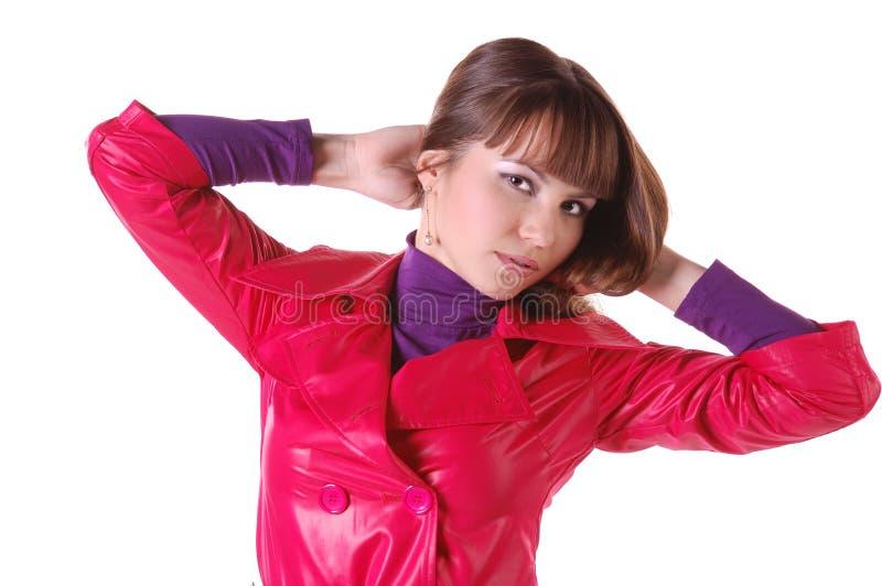 женщина красивейших кожаных кальсон сь стоковое фото rf