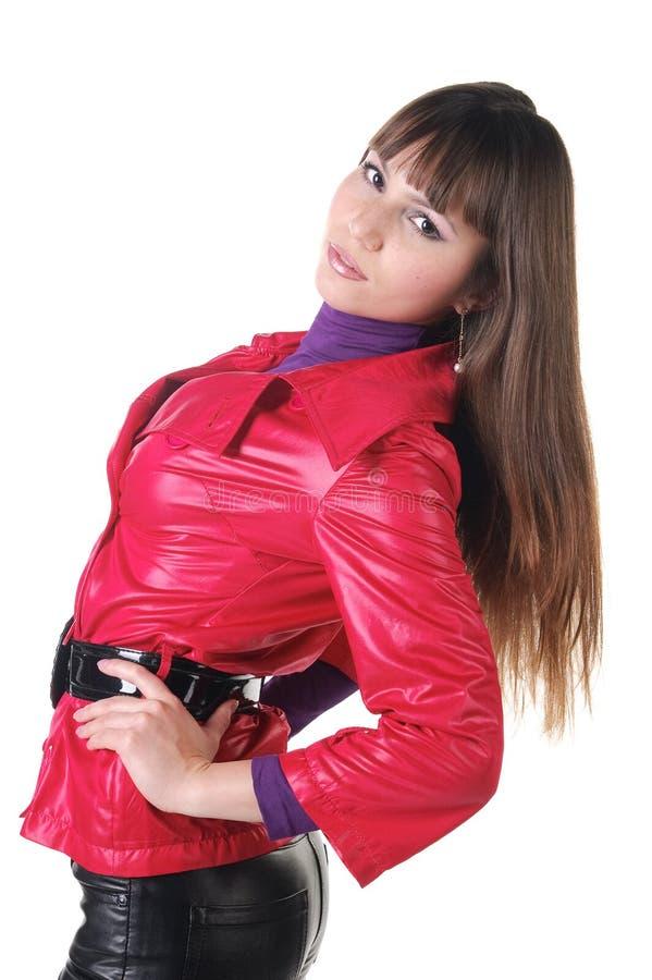 женщина красивейших кожаных кальсон сь стоковые изображения rf