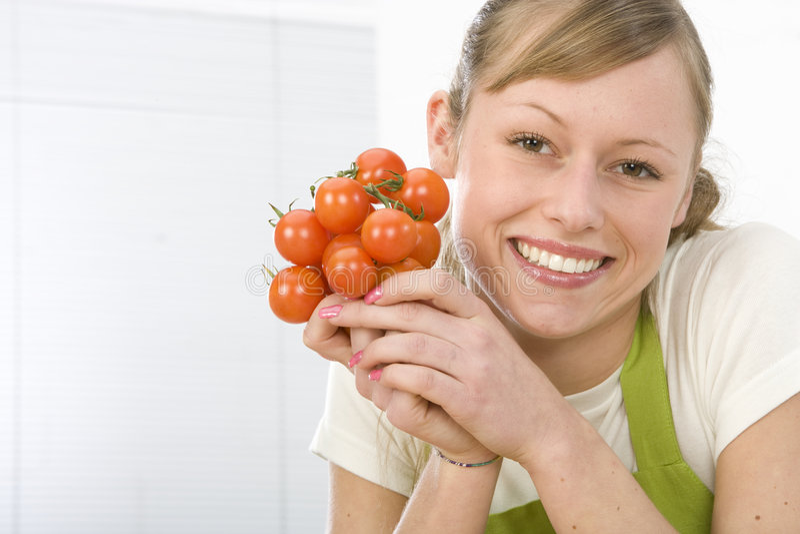 женщина кухни стоковые изображения