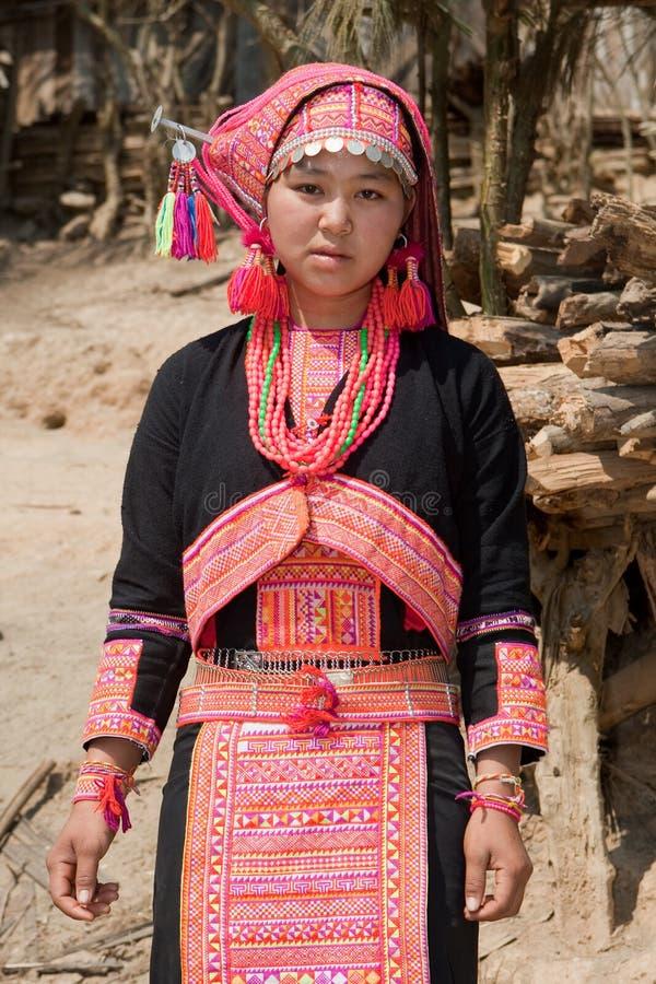женщина Лаоса hmong стоковое изображение rf